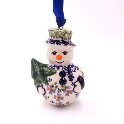 Wisteria Snowman Ornament
