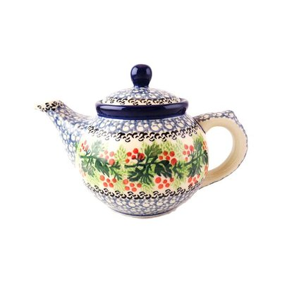 CA Holly Berry Teapot - 12 oz