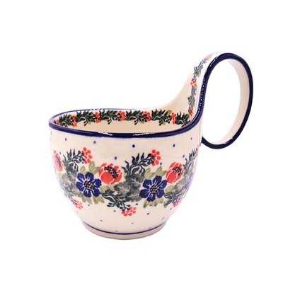 CA Garden Party Loop Handled Soup Cup