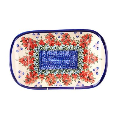 Kalich Red Berries Boat Dish - Lrg
