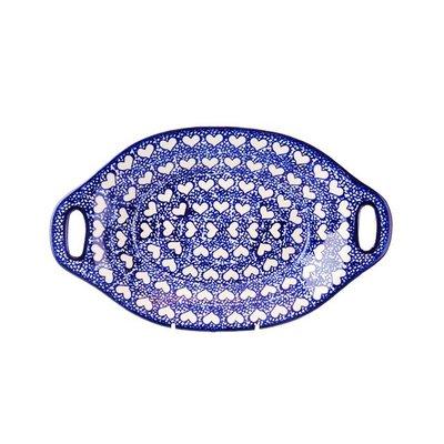 Hearts Oval Dish w/ Handle
