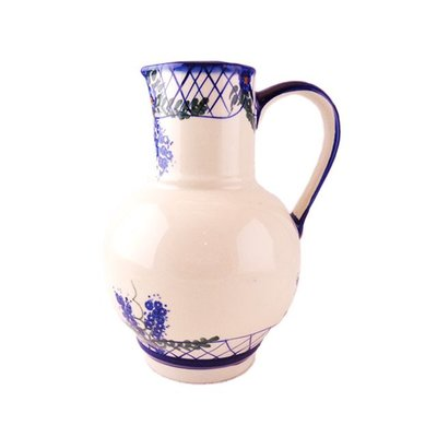Lattice in Blue Pitcher for Wine