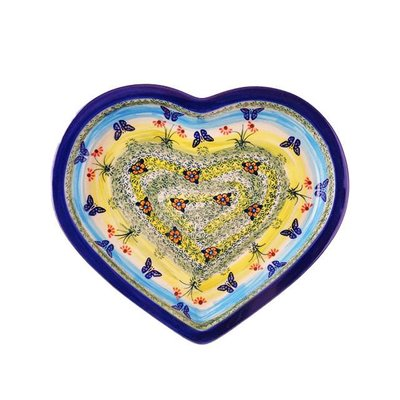Butterflies in Flight Heart Platter