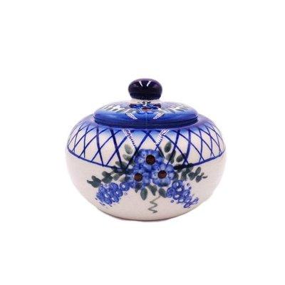 Lattice in Blue Vintage Sugar Bowl