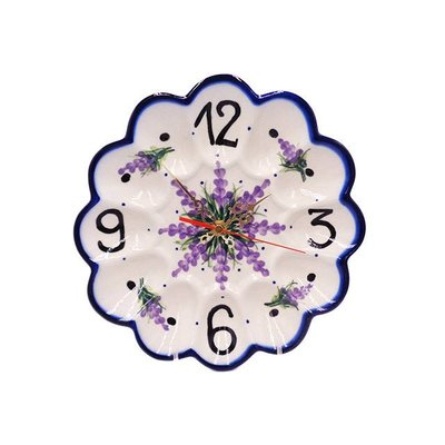 Claire Egg Plate Clock