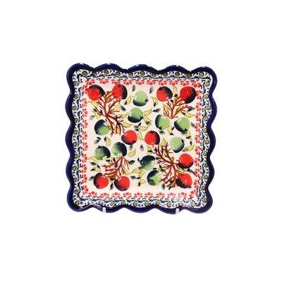 Merry Berry Ruffled Dessert Plate