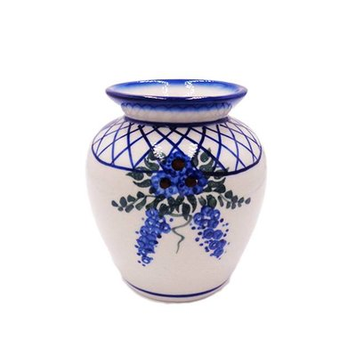 Lattice in Blue Sredni Vase