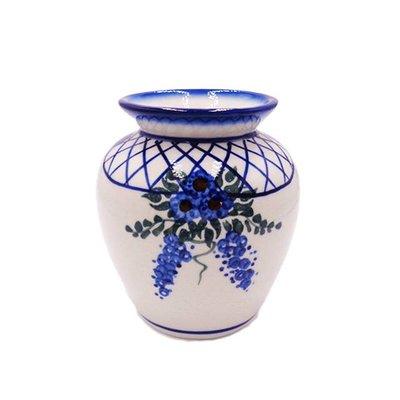 Lattice in Blue Sredni Vase