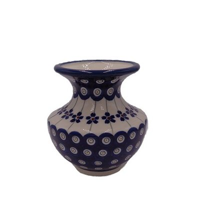 Floral Peacock Classic Vase