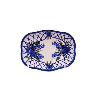 Lattice in Blue Soap Dish