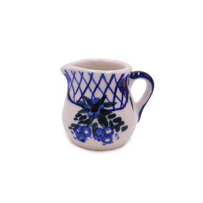 Lattice in Blue Mini Creamer