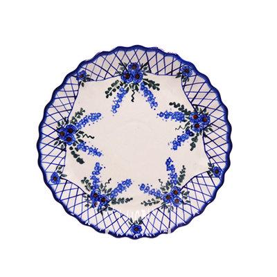 Lattice in Blue Tart Dish 25