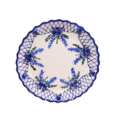 Lattice in Blue Tart Dish 25