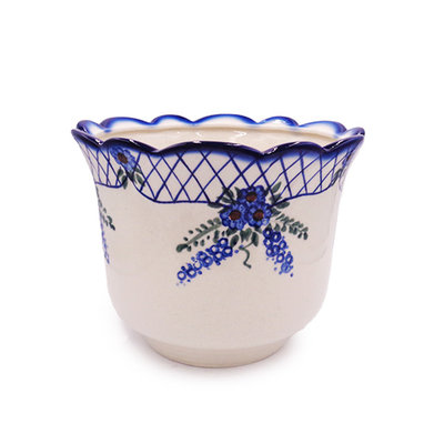Lattice in Blue Flower Pot - Lrg