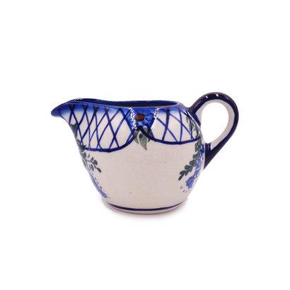 Lattice in Blue Vintage Creamer