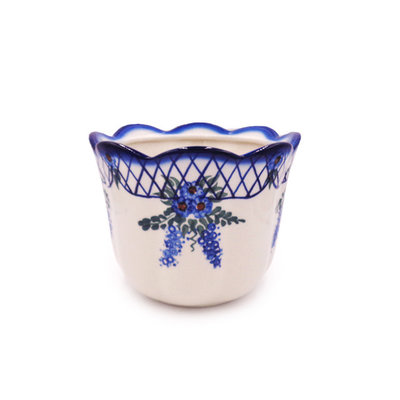 Lattice in Blue Flower Pot - Sm