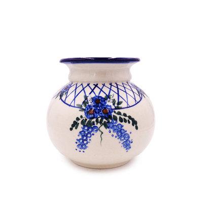 Lattice in Blue Kula Maly Vase