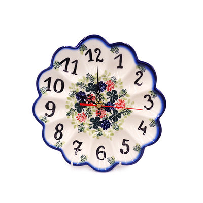 Irish Cheer Egg Plate Clock