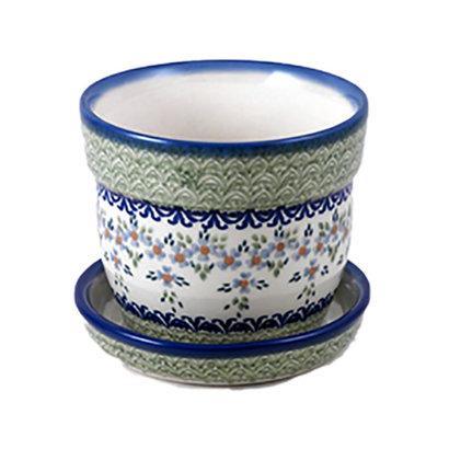 Wisteria Flower Pot w/ Saucer - Sm