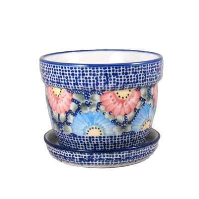Gypsy Jazz Flower Pot w/ Saucer - Lrg