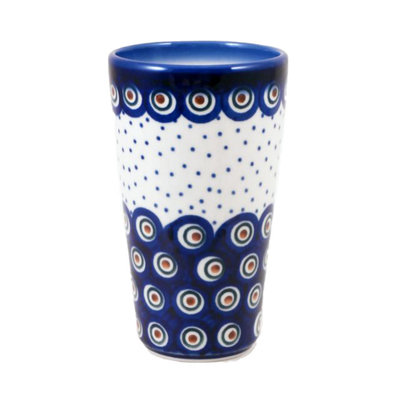 Dotted Peacock Tall Tumbler