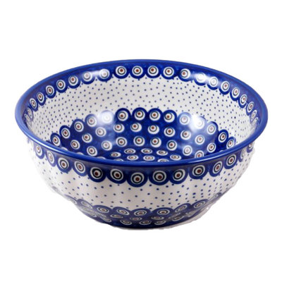 Dotted Peacock F30 Fluted Serving Bowl