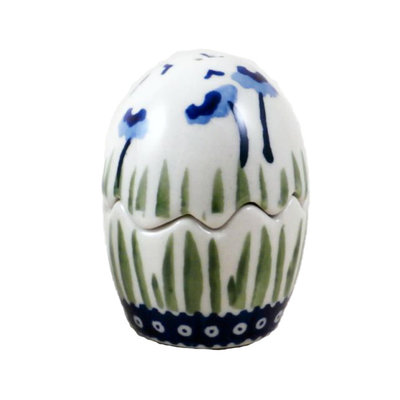 Blue Poppies Egg Puzzle Salt & Pepper