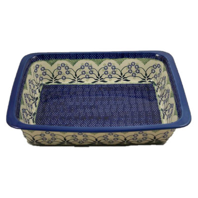 Forget Me Nots Deep Rectangular Baker