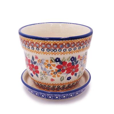 Posies Flower Pot w/ Saucer - Sm