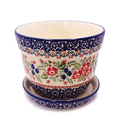 Lidia Flower Pot w/ Saucer - Lrg