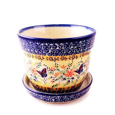 Viktoria Flower Pot w/ Saucer - Lrg