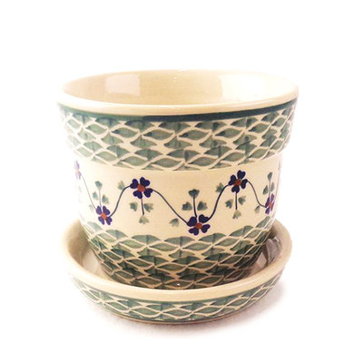 Rhine Valley Flower Pot w/ Saucer - Sm