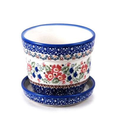 Lidia Flower Pot w/ Saucer - Sm