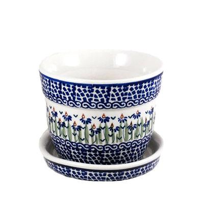 Addie Jo Flower Pot w/ Saucer - Sm