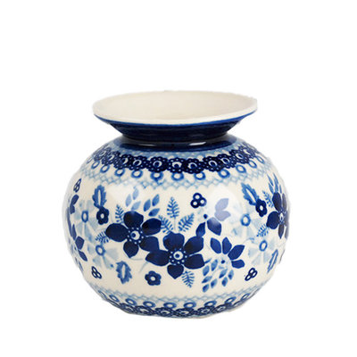Indigo Garden Round Vase
