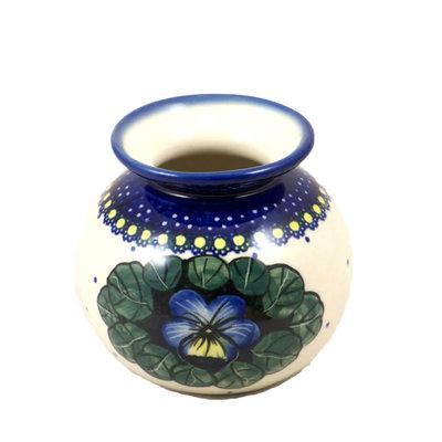 Pansies Round Vase