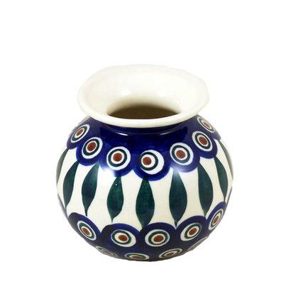 Peacock Round Vase