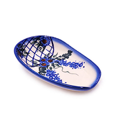 Lattice in Blue Spoon Rest