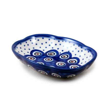 Dotted Peacock Soap Dish