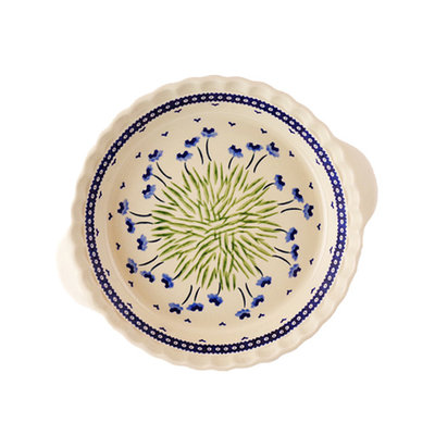 Blue Poppies Pie Plate