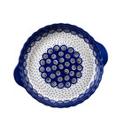 Dotted Peacock Pie Plate