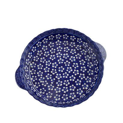 Blue Blossom Pie Plate