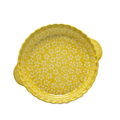 Yellow Blossom Pie Plate