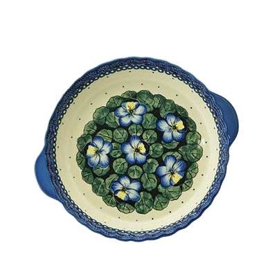 Pansies Pie Plate