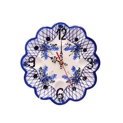 Lattice in Blue Egg Plate Clock