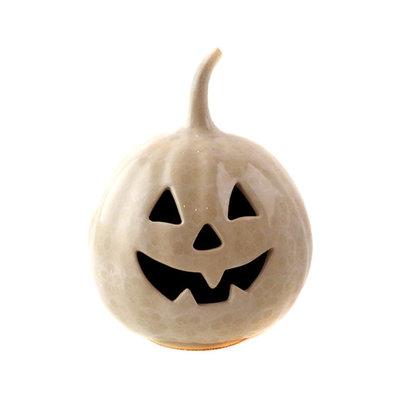 White Blossom Pumpkin Lantern - Sm