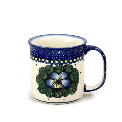 Pansies Straight Mug