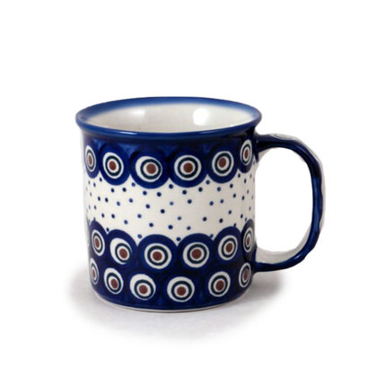 Dotted Peacock Straight Mug