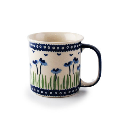 Blue Poppies Straight Mug