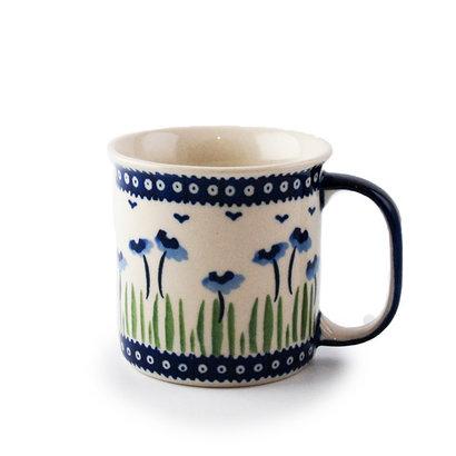 Blue Poppies Straight Mug